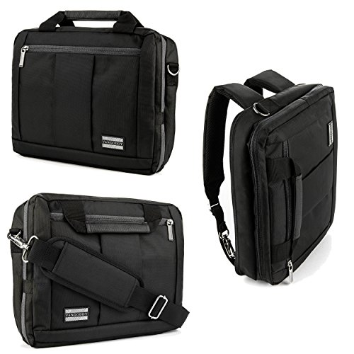 El-Prado-Collection-3-in-1-Backpack-and-Messenger-Bag-for-Apple-iPad-Pro-129-Apple-iPad-Air-2-97-Apple-iPad-Mini-4-79-Tablets-Black-0-1
