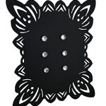 Elegant-Framed-Black-Metal-Magnetic-Memo-Board-0