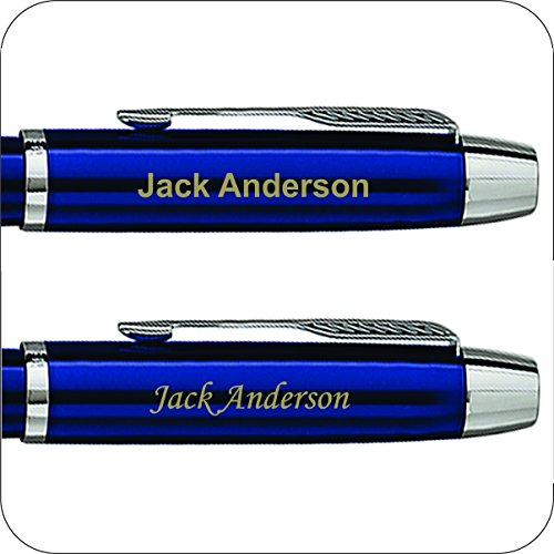 Engraved-Personalized-Parker-IM-Blue-Rollerball-Gift-Pen-Fast-1-Day-Engraving-Time-0-0