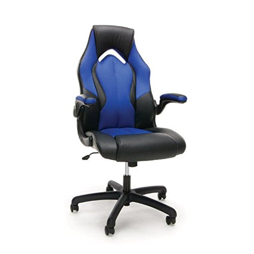 Essentials-Racing-Style-Leather-Gaming-Chair-Ergonomic-Swivel-Computer-Office-or-Gaming-Chair-Blue-ESS-3086-BLU-0