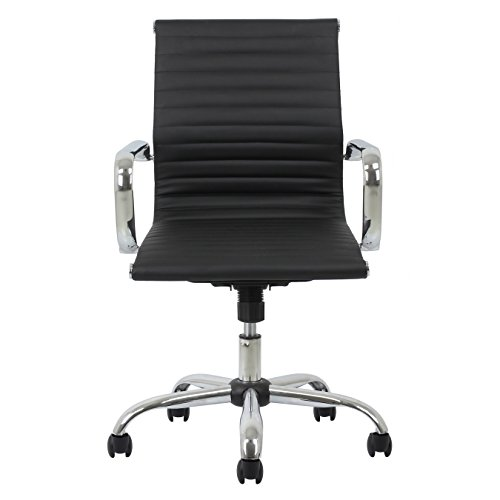 Essentials-Soft-Ribbed-Leather-Executive-Conference-Chair-with-Arms-Ergonomic-Adjustable-Swivel-Chair-BlackChrome-ESS-6090-0-0