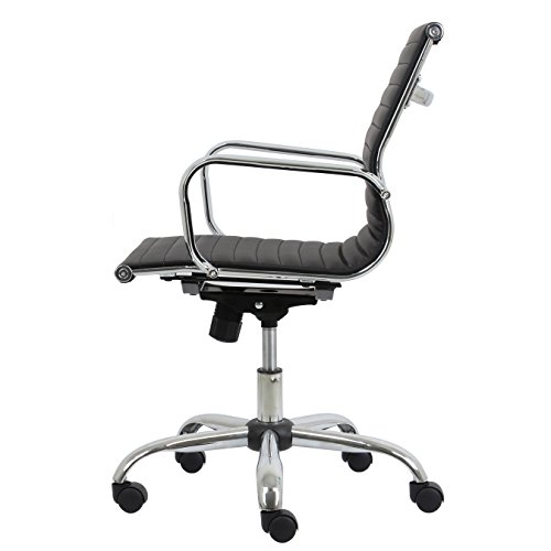 Essentials-Soft-Ribbed-Leather-Executive-Conference-Chair-with-Arms-Ergonomic-Adjustable-Swivel-Chair-BlackChrome-ESS-6090-0-1