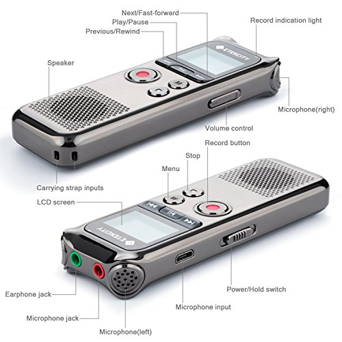 Etekcity-8-GB-Digital-Rechargeable-Voice-Recorder-with-OLED-Display-3-Microphones-HD-Stereo-Recording-and-Noise-Reducation-Function-Elegant-Metal-0-0