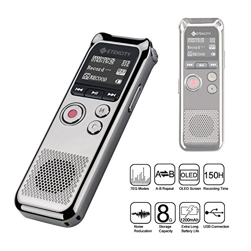Etekcity-8-GB-Digital-Rechargeable-Voice-Recorder-with-OLED-Display-3-Microphones-HD-Stereo-Recording-and-Noise-Reducation-Function-Elegant-Metal-0-1