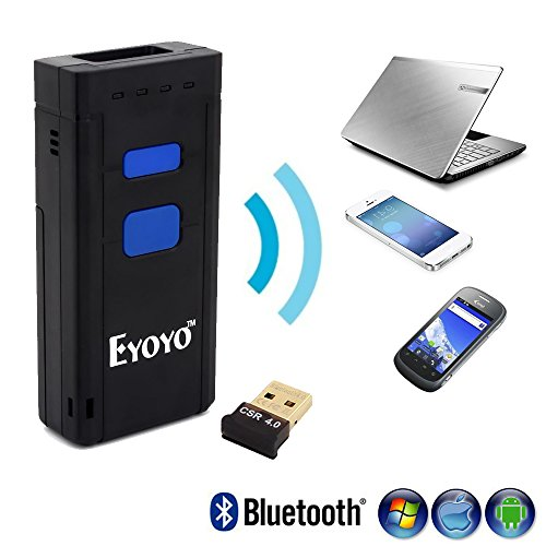 Eyoyo Portable 1D Bluetooth Wireless Barcode Scanner Supports Windows,  Android, iOS and Works with iPad, iPhone, Android Phones, Tablets or  Computers