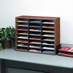 Fellowes-24-Compartment-Literature-Organizer-Letter-Size-Medium-Oak-25043-0-0