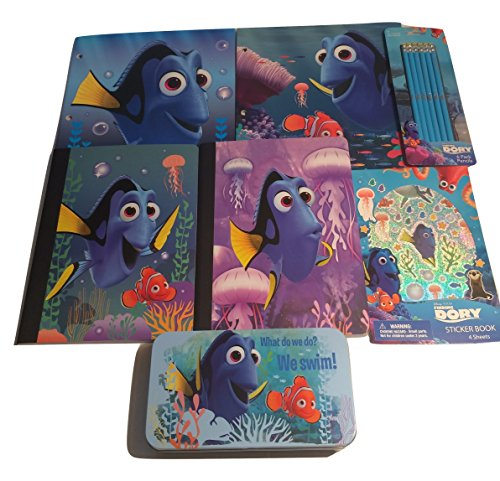 Finding-Dory-School-Supply-Bundle-Wide-Rule-Composition-Books-Two-Pocket-Portfolio-Folders-Pencils-Storage-Box-Stickers-7-Items-0