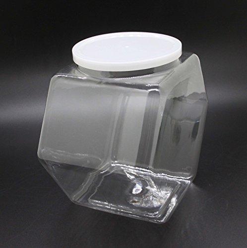 Fixture-Displays-1-Gallon-Plastic-Candy-Bin-w-Lift-Off-Lid-Set-of-12-Clear-19485-0-0