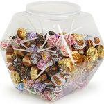 Fixture-Displays-1-Gallon-Plastic-Candy-Bin-w-Lift-Off-Lid-Set-of-12-Clear-19485-0
