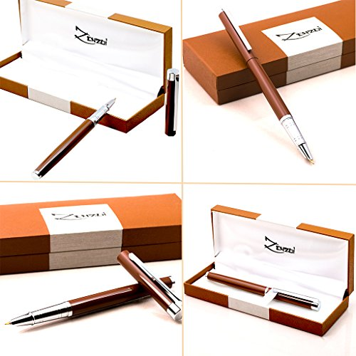 Fountain-Pen-Chocolate-Espresso-Brown-with-Ink-Refill-Converter-and-Gift-Box-Timeless-Classics-Collection-Executive-Writing-Signature-Calligraphy-Pens-Set-For-Standard-Cartridges-100-Warranty-0-0