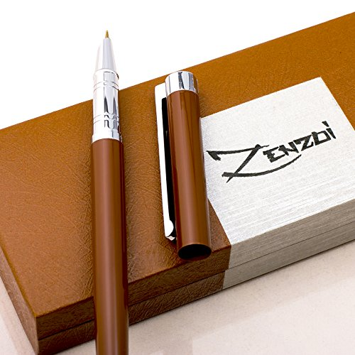 Fountain-Pen-Chocolate-Espresso-Brown-with-Ink-Refill-Converter-and-Gift-Box-Timeless-Classics-Collection-Executive-Writing-Signature-Calligraphy-Pens-Set-For-Standard-Cartridges-100-Warranty-0-1