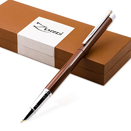 Fountain-Pen-Chocolate-Espresso-Brown-with-Ink-Refill-Converter-and-Gift-Box-Timeless-Classics-Collection-Executive-Writing-Signature-Calligraphy-Pens-Set-For-Standard-Cartridges-100-Warranty-0