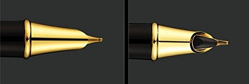 Fountain-Pen-Fine-Nib-with-Gift-Case-and-Ink-Refill-Converter-Showtime-Black-Limited-Edition-Best-Modern-Classic-Executive-Writing-Pens-Set-For-Standard-Calligraphy-Cartridges-on-Sale-100Warranty-0-0