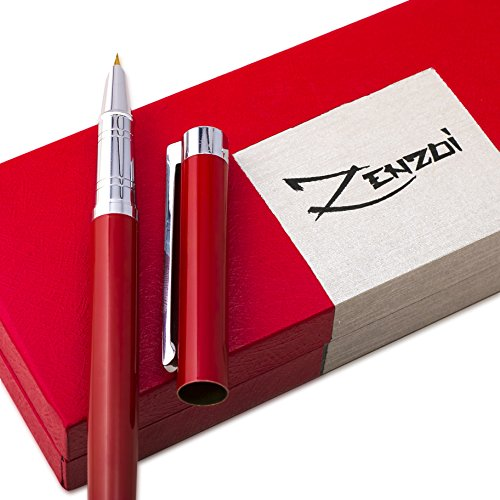 Fountain-Pens-Set-and-Gift-Case-Million-Dollar-Red-with-Ink-Refill-Converter-Timeless-Classics-Collection-Executive-Writing-Signature-Calligraphy-Pen-For-International-Cartridges-100-Warranty-0