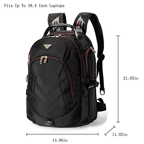 FreeBiz-184-Inches-Laptop-Backpack-Fits-up-to-18-Inch-Gaming-Laptops-for-Dell-Asus-MsiHp-Black-0-0