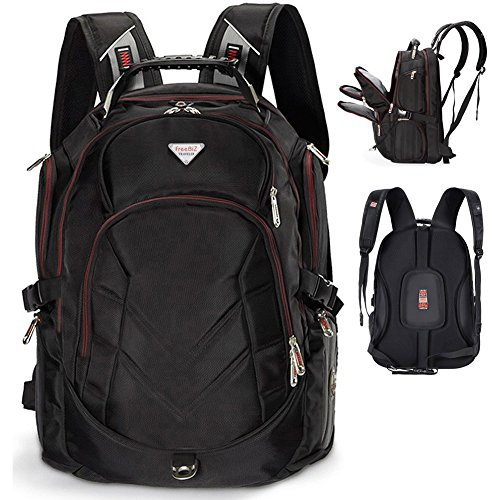 FreeBiz-184-Inches-Laptop-Backpack-Fits-up-to-18-Inch-Gaming-Laptops-for-Dell-Asus-MsiHp-Black-0