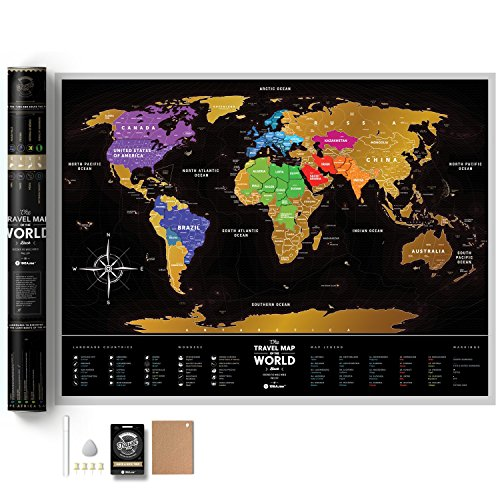 Full color deluxe scratch off map large places ive been world full color deluxe scratch off map large places gumiabroncs Images