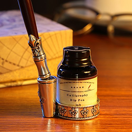 GC-QUill-Calligraphy-Pen-Set-Writing-Case-with-5-Bottle-Ink-0-0