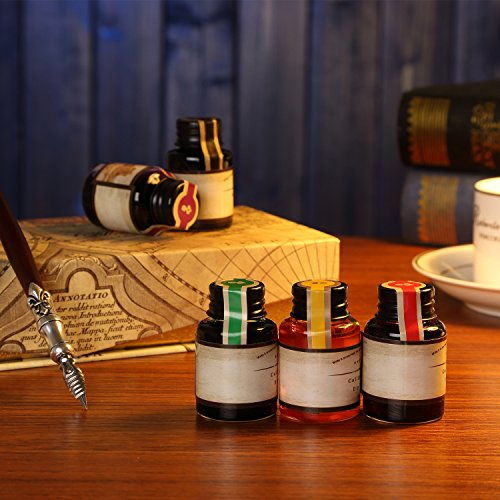 GC-QUill-Calligraphy-Pen-Set-Writing-Case-with-5-Bottle-Ink-0-1