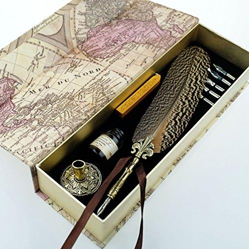 GC-QUill-Copper-Pen-Stem-Antique-True-Feather-Metal-Nibbed-Calligraphy-Pen-Dip-Pen-L16114-for-Harry-Potter-Fans-0-0