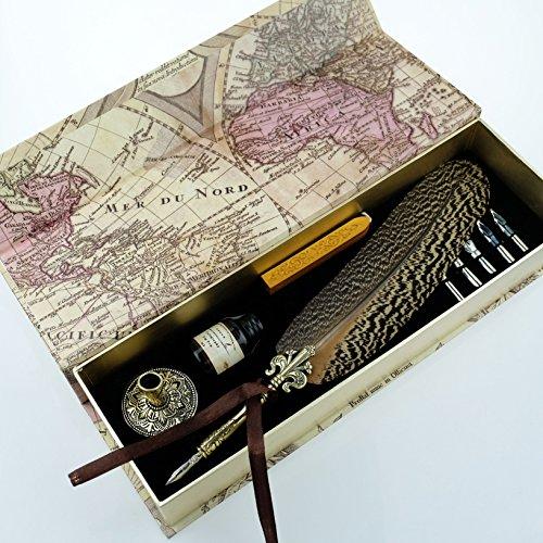 GC-QUill-Copper-Pen-Stem-Antique-True-Feather-Metal-Nibbed-Calligraphy-Pen-Dip-Pen-L16114-for-Harry-Potter-Fans-0-1