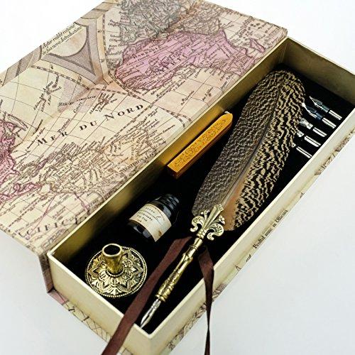 GC-QUill-Copper-Pen-Stem-Antique-True-Feather-Metal-Nibbed-Calligraphy-Pen-Dip-Pen-L16114-for-Harry-Potter-Fans-0