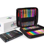 Gel-Pens-For-Adult-Coloring-Books-48-Assorted-Premium-Artist-Quality-Gel-Pens-Plus-48-Ink-Refills-Travel-Case-and-Gift-Box-Includes-Glitter-Metallic-and-Neon-Gel-Pens-0-0