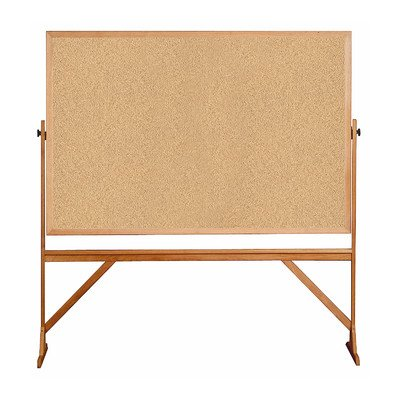 Ghent-4-x-6-Wood-Frame-Mobile-Reversible-Free-Standing-Double-Sided-Natural-Corkboard-0