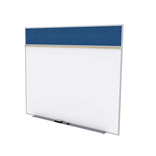 Ghent-SPC510A-V-195-5-ft-x-10-ft-Style-A-Combination-Unit-Porcelain-Magnetic-Whiteboard-and-Vinyl-Fabric-Tackboard-Navy-0