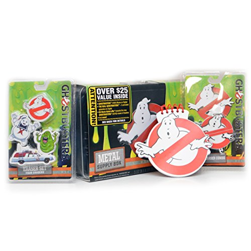 Ghostbusters-School-SPIRIT-Bundle-Metal-School-Supplies-Storage-Box-1-GB-Eraser-USB-Combo-1-Spiral-Notepad-3-Erasers-Ecto-1-Stay-Puft-Slimer-1984-5-off-Pre-Order-5-Ep-of-GB-Cartoon-0-1