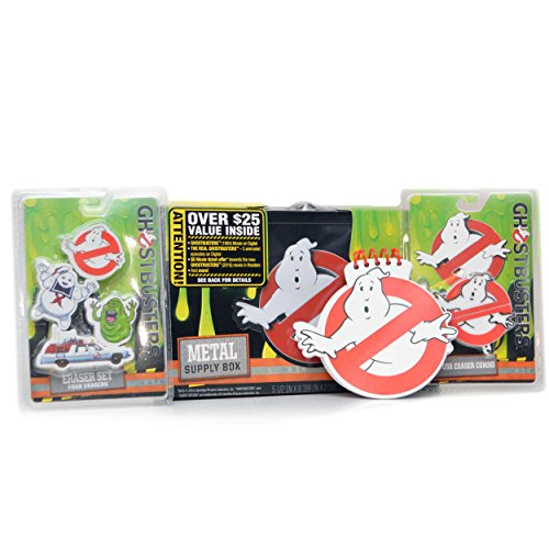 Ghostbusters-School-SPIRIT-Bundle-Metal-School-Supplies-Storage-Box-1-GB-Eraser-USB-Combo-1-Spiral-Notepad-3-Erasers-Ecto-1-Stay-Puft-Slimer-1984-5-off-Pre-Order-5-Ep-of-GB-Cartoon-0