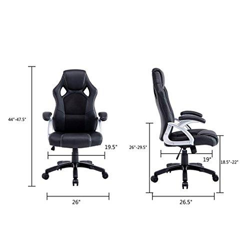 Giantex-Pu-Leather-Executive-Racing-Style-Bucket-Seat-Chair-Sporty-Office-Desk-Chair-0-1