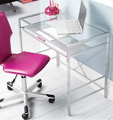 Glass-Top-Laptop-Computer-Desk-PC-Workstation-Table-Modern-Durable-Design-0