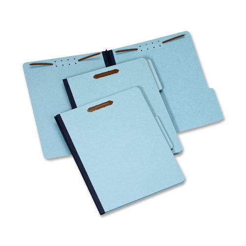 Globe-WeisPendaflex-Pressboard-File-Folder-with-2-Fasteners-1-Inch-Expansion-13-Tabs-Letter-Size-25-Pack-Blue-615F21-3BLU-0