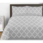 Gray-and-White-Trellis-Print-Lattice-Fabric-MemoryMemo-Photo-Bulletin-Board-0-1