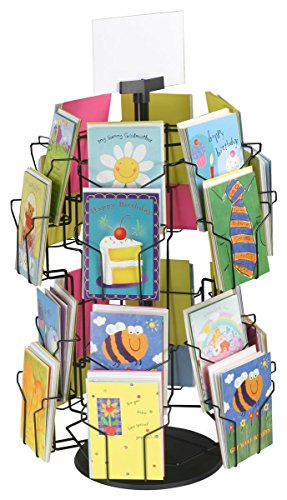 Greeting card display stand with 24 5 x 7 pockets for countertop greeting card display stand with 24 5 x m4hsunfo