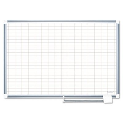 Grid-Planning-Board-1×2-Grid-36×24-WhiteSilver-Sold-as-1-Each-0