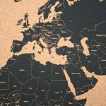 Hand-Printed-World-Map-Bulletin-Board-with-Aluminum-Frame-18-x-24-0-0