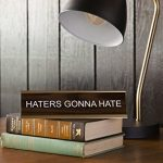 Haters-Gonna-Hate-Engraved-Office-Desk-NameplatePlaque-2-x-8-Brown-and-Gold-0-0