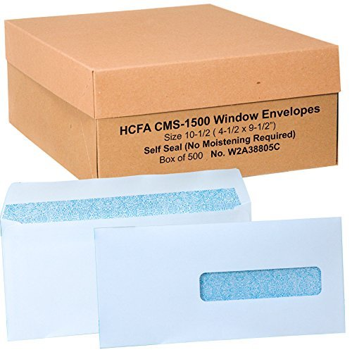 Hcfa-Envelopes-Window-Style-Size-10-12-4-12-X-9-12-Self-Seal-Flaps-No-Moistening-Required-Box-of-500-0
