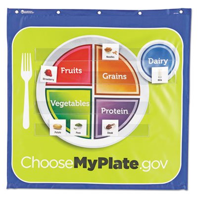 Healthy-Helpings-My-Plate-Pocket-Chart-with-90-Food-Cards-7-Pockets-28-x-28-Sold-as-1-Each-0