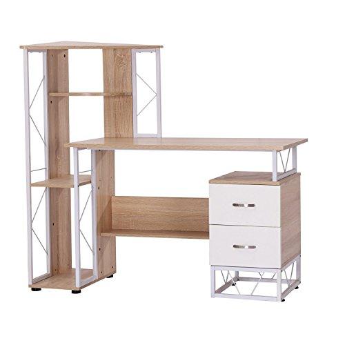 HomCom-52-Multi-Level-Tower-Office-Workstation-Computer-Desk-0
