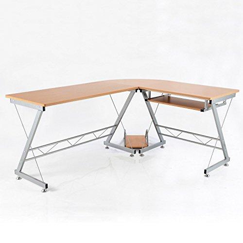 HomCom-67-L-Shaped-Office-Workstation-Computer-Desk-0-0