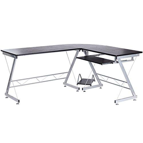 HomCom-67-L-Shaped-Office-Workstation-Computer-Desk-0