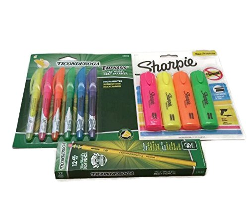 Home-Office-School-Supply-Bundle-Pencils-Highlighters-Bic-Pens-Post-It-Mead-Composition-Book-Ampad-Pads-Oxford-Index-Cards-Pencil-Pouch-Mini-Stapler-Bic-Wite-Out-Pencil-Sharpener-Ruler-0-0