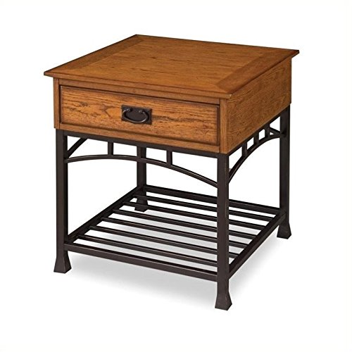 Home-Style-5050-20-Modern-Craftsman-End-Table-Distressed-Oak-Finish-0-0