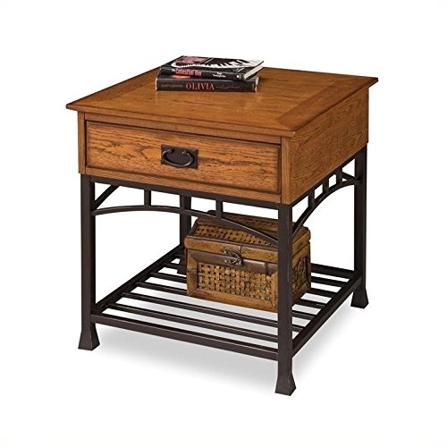 Home-Style-5050-20-Modern-Craftsman-End-Table-Distressed-Oak-Finish-0