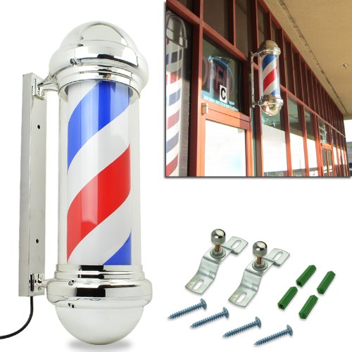 HomeSmith 30″ Classic Barber Shop Pole Light Red White