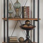 Homelegance-3228-12-Bookcase-Shelves-BrownBlack-0-0