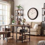 Homelegance-3228-12-Bookcase-Shelves-BrownBlack-0-1